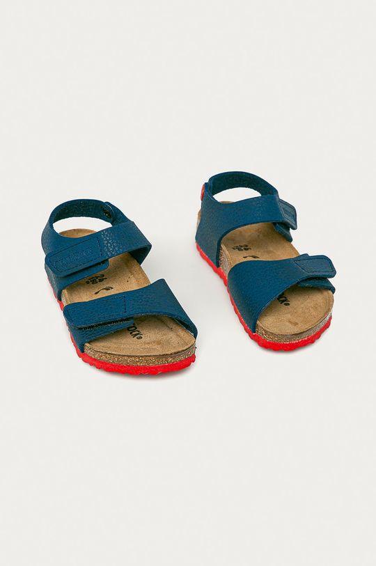 Birkenstock - Dětské sandály Palu Kids Logo námořnická modř