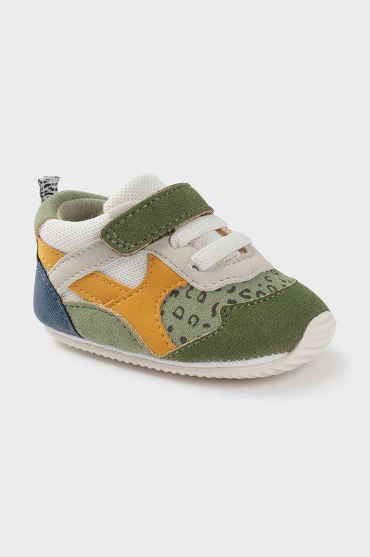 hnedozelená Mayoral Newborn - Detské topánky Chlapčenský