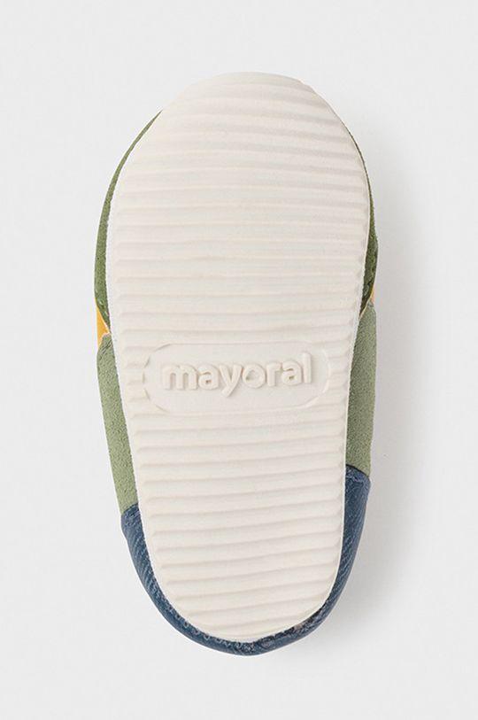 hnedozelená Mayoral Newborn - Detské topánky