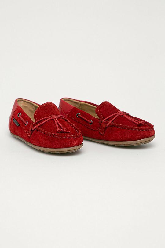 Mayoral - Detské semišové mokasíny červená