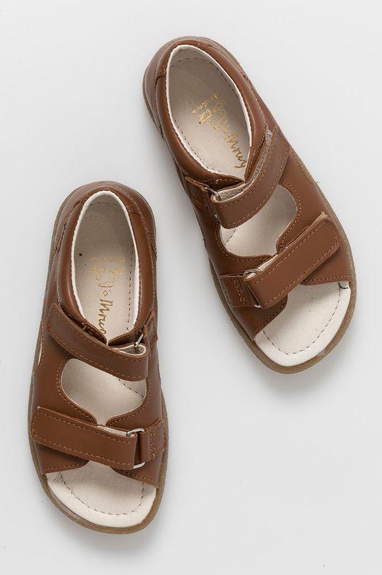 kawowy Mrugała - Sandały skórzane dziecięce