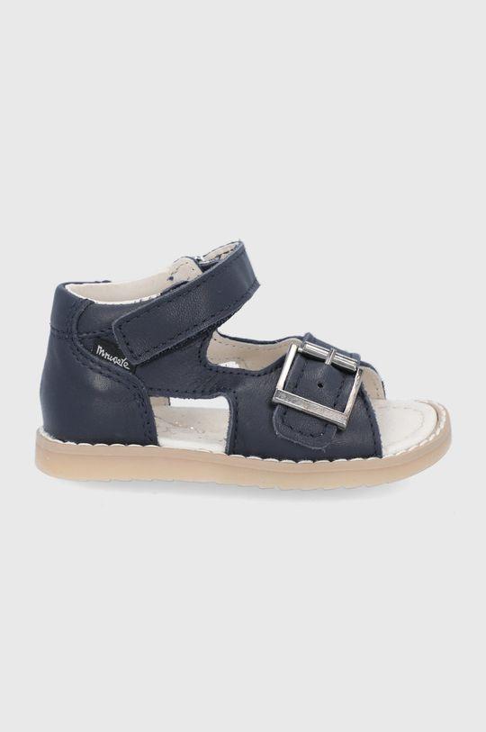 bleumarin Mrugała - Sandale din piele pentru copii De băieți