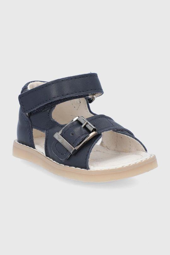 Mrugała - Sandale din piele pentru copii bleumarin