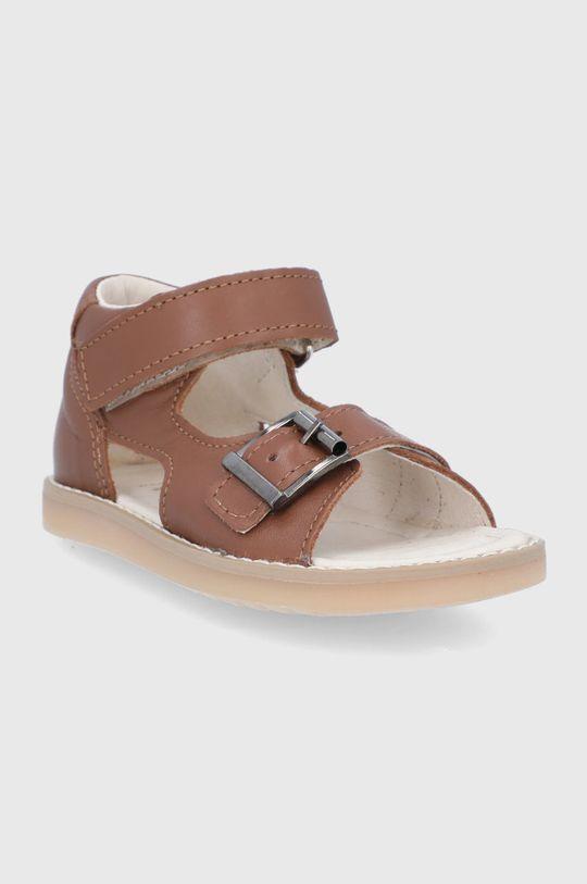 Mrugała - Sandały skórzane dziecięce brązowy