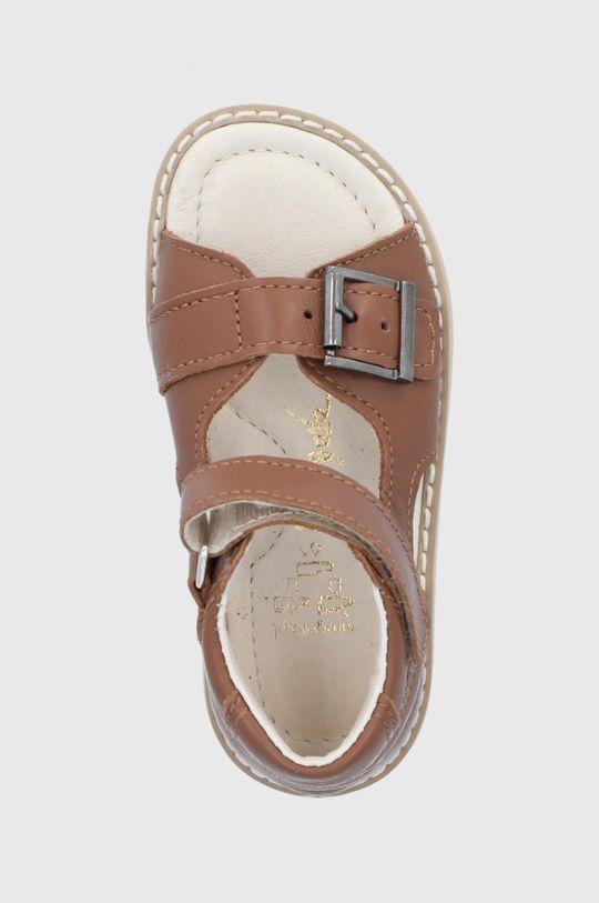 brązowy Mrugała - Sandały skórzane dziecięce