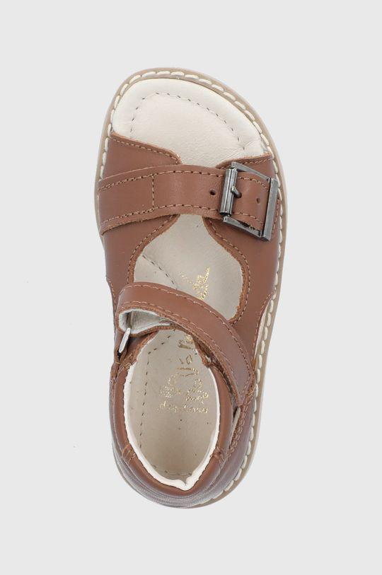 hnedá Mrugała - Kožené sandále