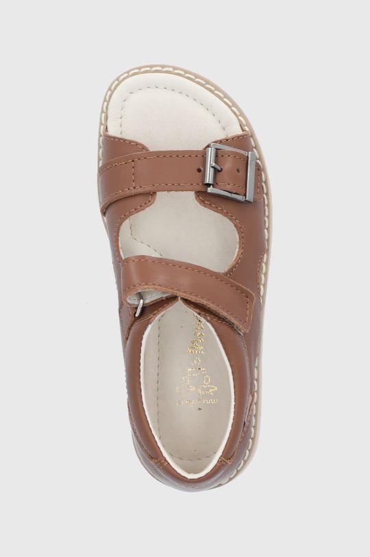 hnedá Mrugała - Detské kožené sandále