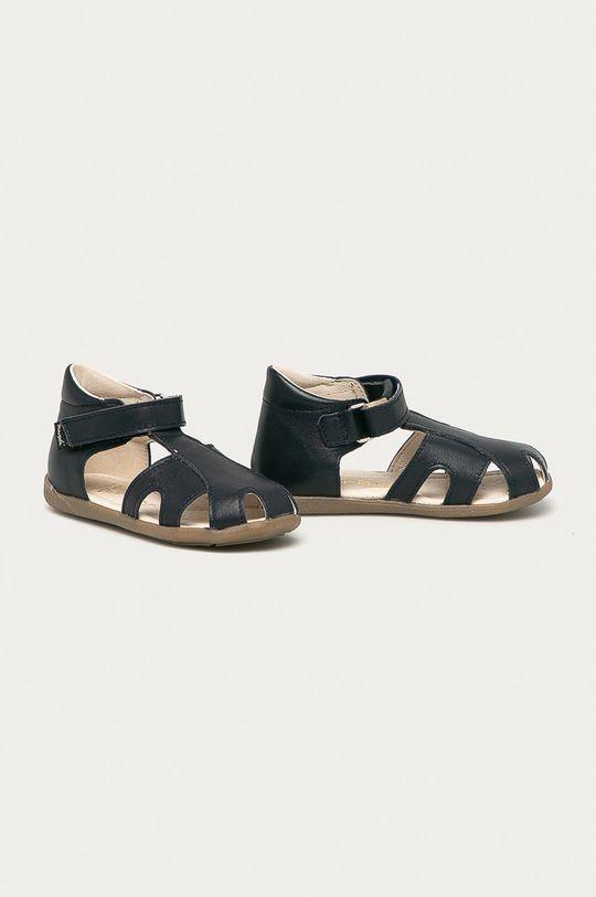 Mrugała - Detské semišové sandále tmavomodrá