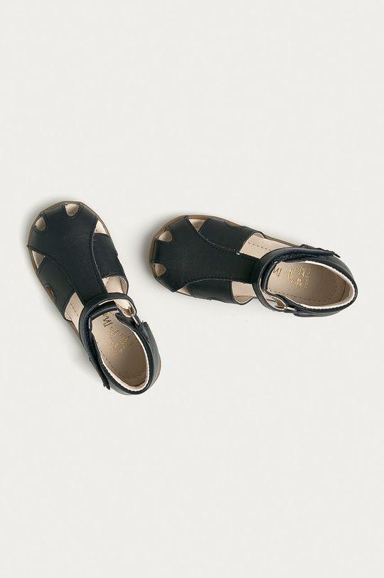 tmavomodrá Mrugała - Detské semišové sandále