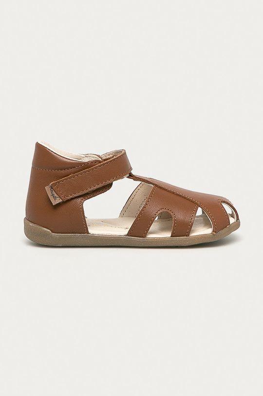 brązowy Mrugała - Sandały zamszowe dziecięce Chłopięcy