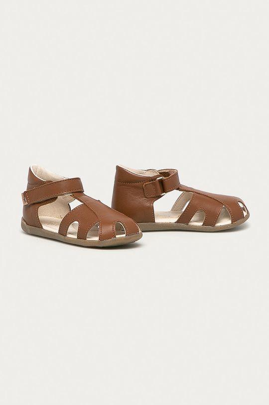 Mrugała - Sandały zamszowe dziecięce brązowy