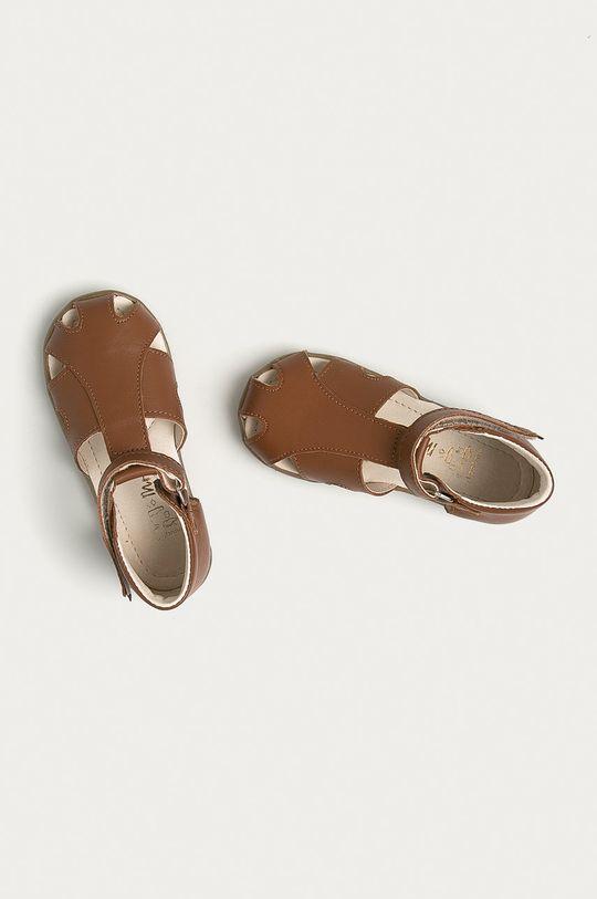 brązowy Mrugała - Sandały zamszowe dziecięce