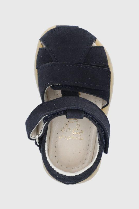 granatowy Mrugała - Sandały skórzane dziecięce