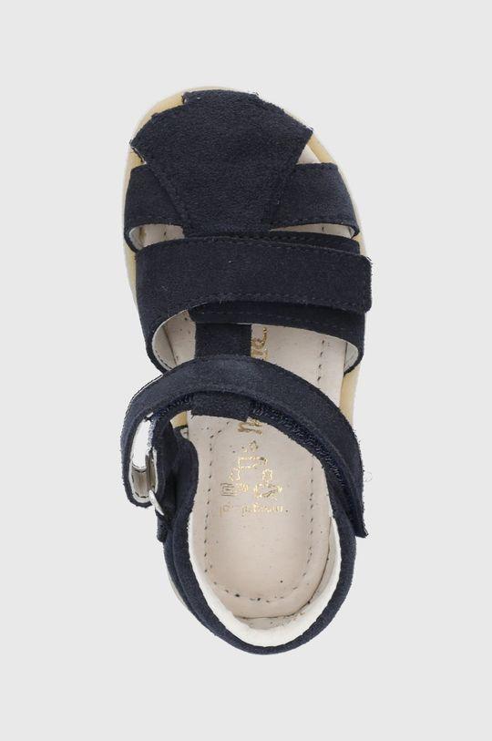tmavomodrá Mrugała - Detské kožené sandále