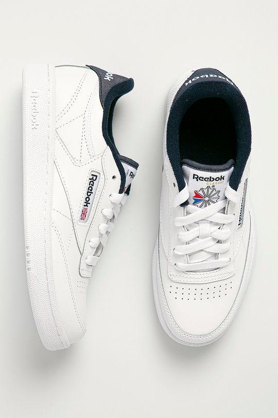 biela Reebok Classic - Detské topánky Club C 85