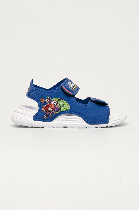 niebieski adidas - Sandały dziecięce Chłopięcy