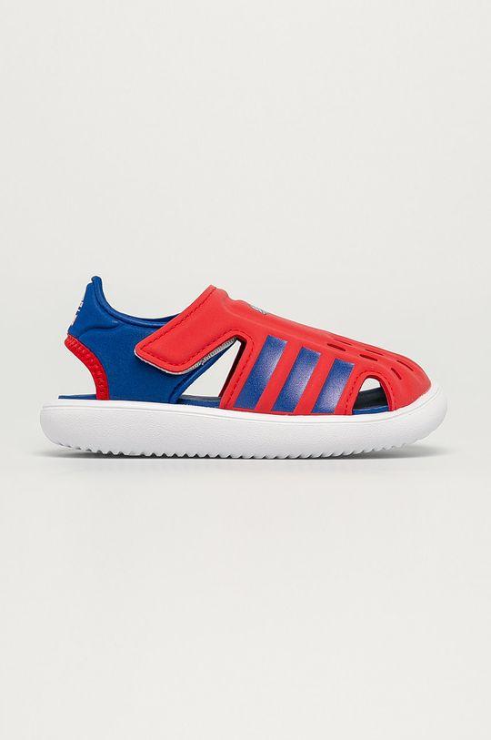 červená adidas - Dětské sandály Chlapecký