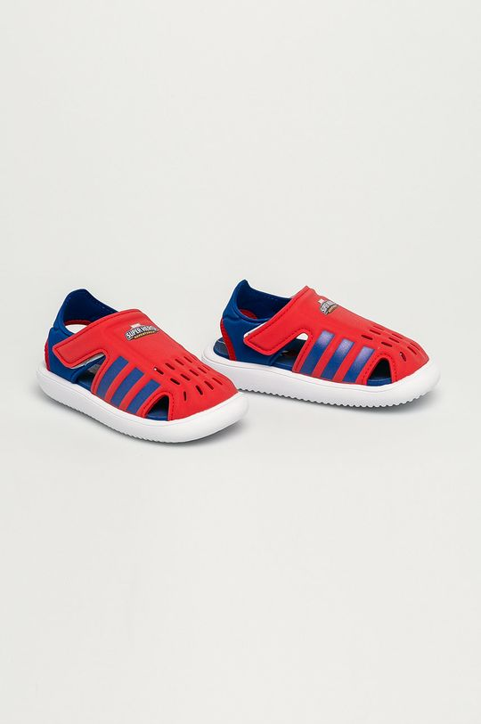 adidas - Dětské sandály červená