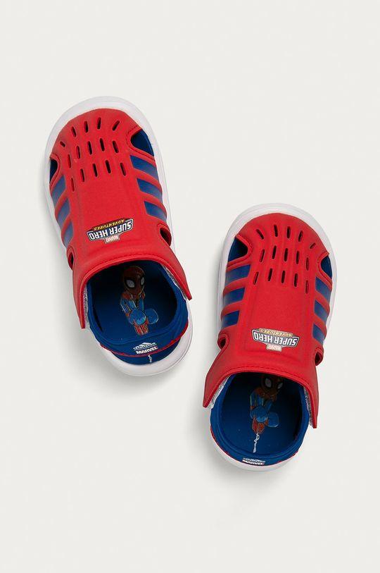 červená adidas - Dětské sandály