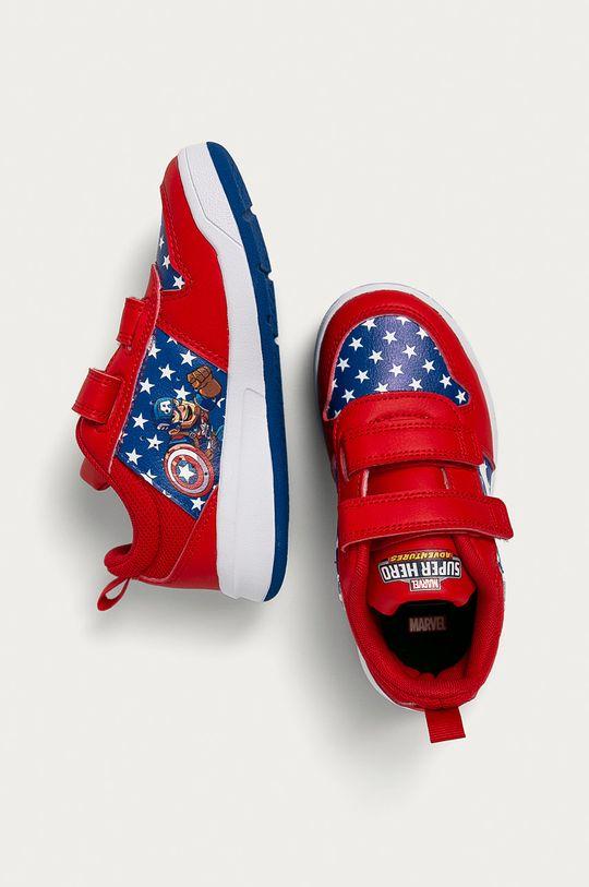 červená adidas - Dětské boty Tensaur