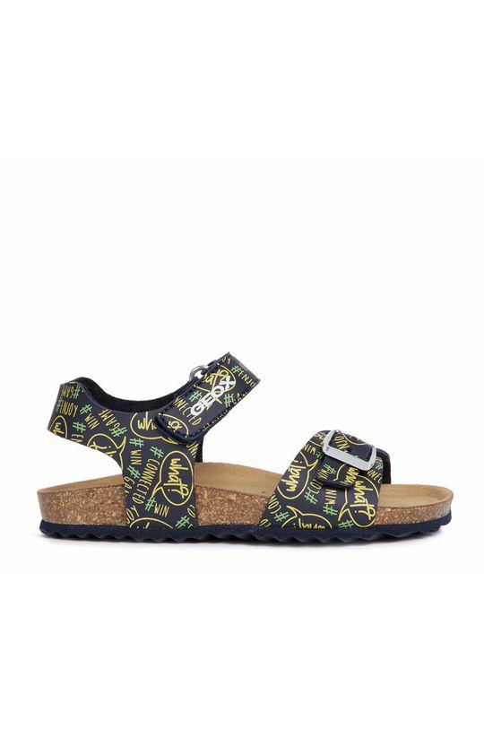 žlutá Geox - Dětské sandály Chlapecký