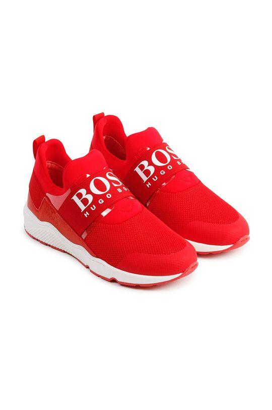 czerwony Boss - Buty dziecięce Chłopięcy