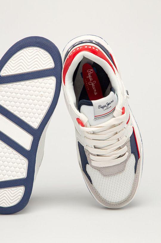 biały Pepe Jeans - Buty dziecięce Kurt Basket