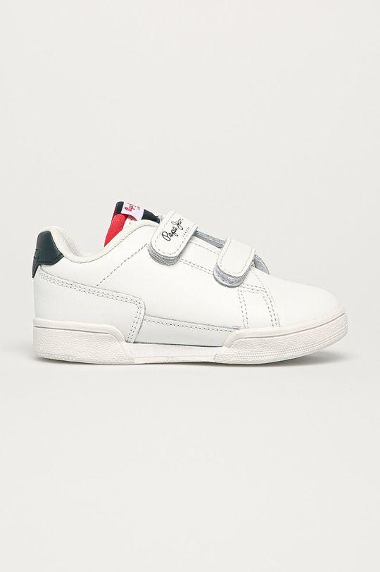 biela Pepe Jeans - Detské kožené topánky Lambert Britt Chlapčenský