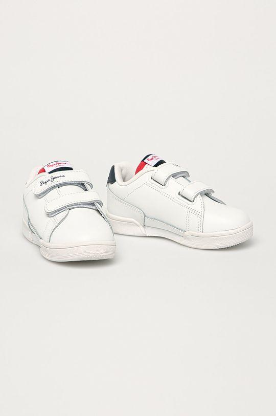 Pepe Jeans - Detské kožené topánky Lambert Britt biela