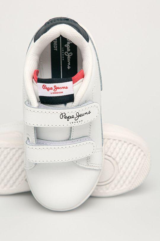 biela Pepe Jeans - Detské kožené topánky Lambert Britt