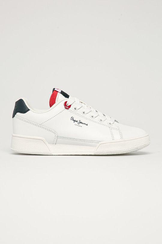 bílá Pepe Jeans - Dětské kožené boty Lambert Britt Chlapecký