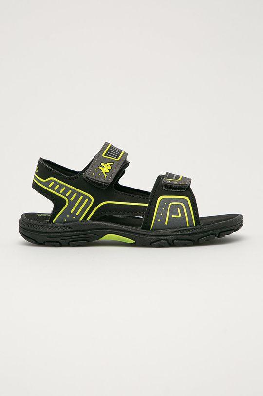 čierna Kappa - Detské sandále Paxos Chlapčenský