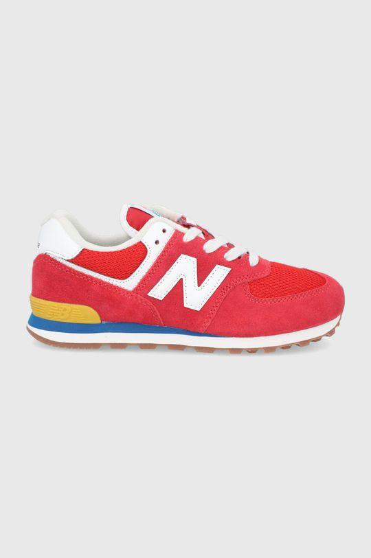 czerwony New Balance - Buty dziecięce GC574HA2 Chłopięcy