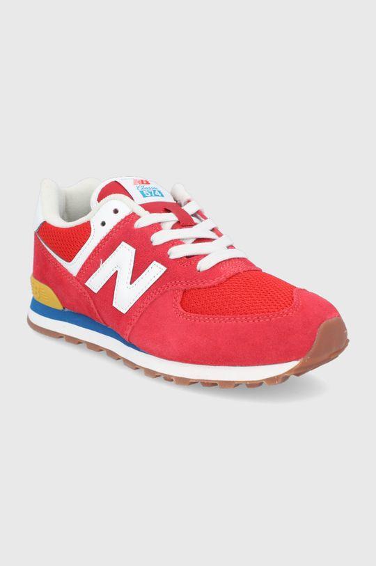 New Balance - Buty dziecięce GC574HA2 czerwony
