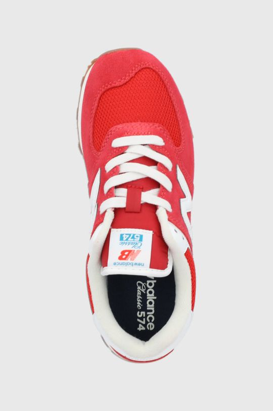 czerwony New Balance - Buty dziecięce GC574HA2