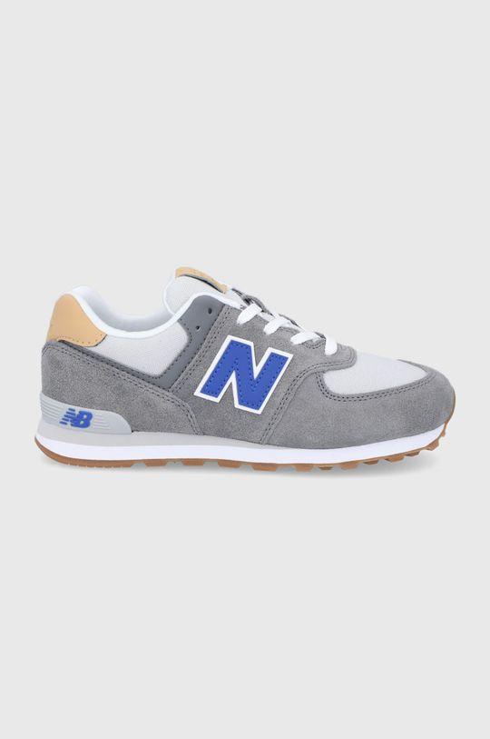 szary New Balance - Buty dziecięce GC574NA2 Chłopięcy
