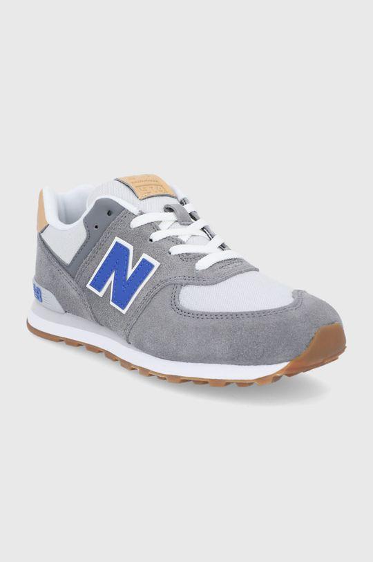 New Balance - Buty dziecięce GC574NA2 szary