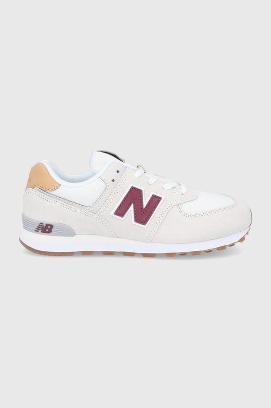 kremowy New Balance - Buty dziecięce GC574NE2 Chłopięcy