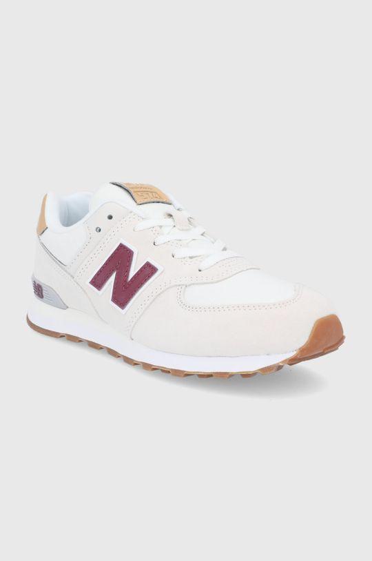 New Balance - Buty dziecięce GC574NE2 kremowy
