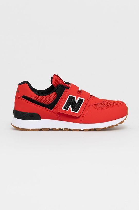 červená New Balance - Detské topánky PV574BRK Chlapčenský
