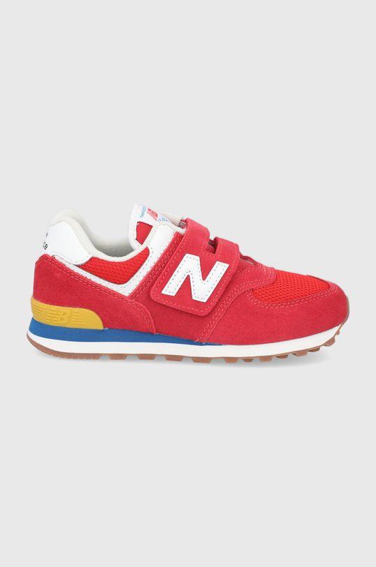červená New Balance - Detské topánky PV574HA2 Chlapčenský