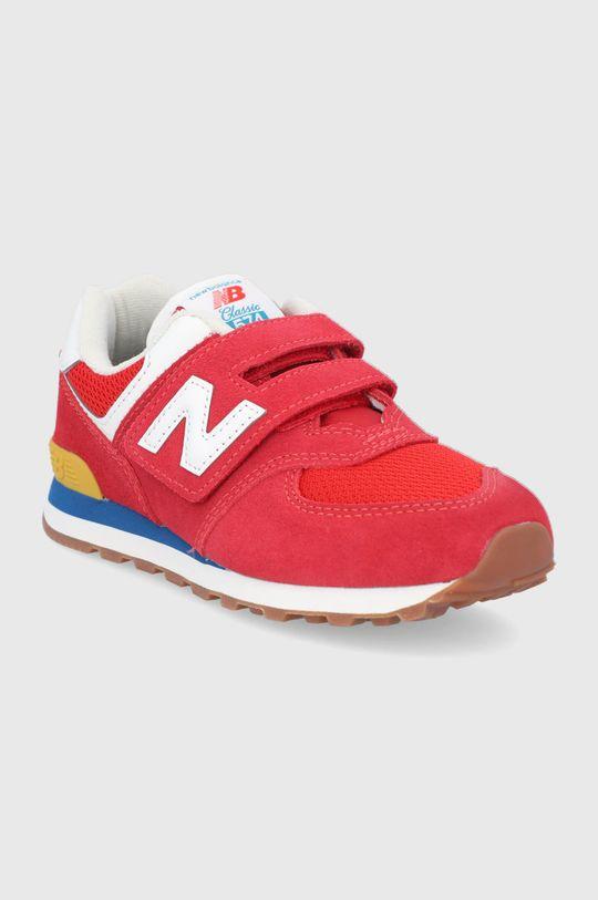 New Balance - Detské topánky PV574HA2 červená