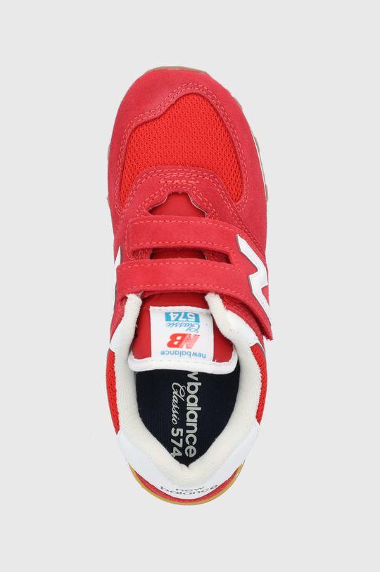 červená New Balance - Detské topánky PV574HA2