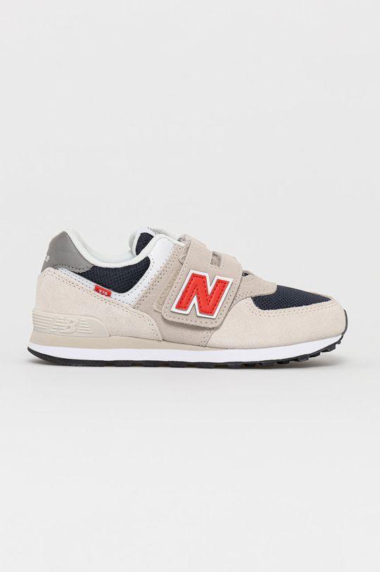 svetlosivá New Balance - Detské topánky PV574SJ2 Chlapčenský