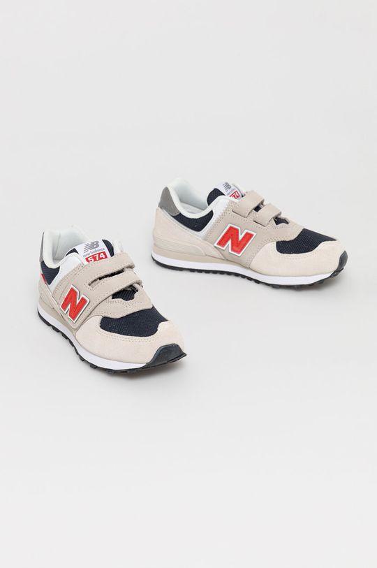New Balance - Detské topánky PV574SJ2 svetlosivá