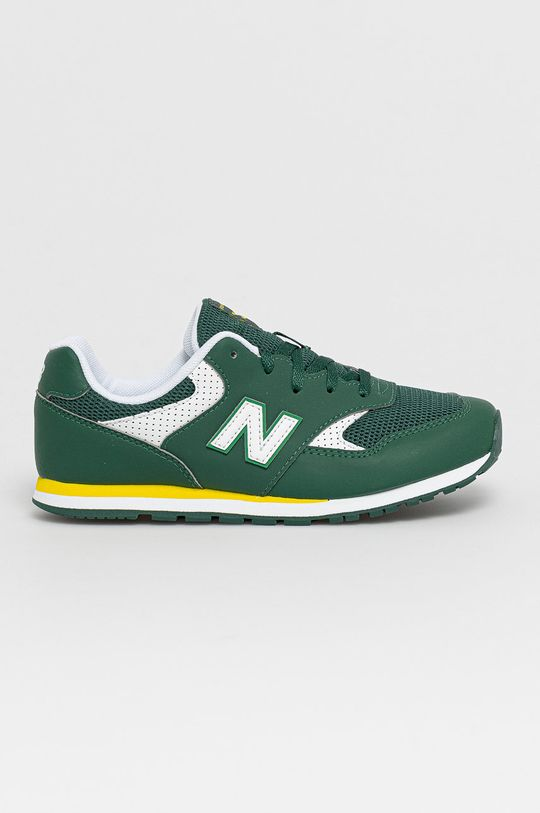 zelená New Balance - Detské topánky YC393BGR Chlapčenský