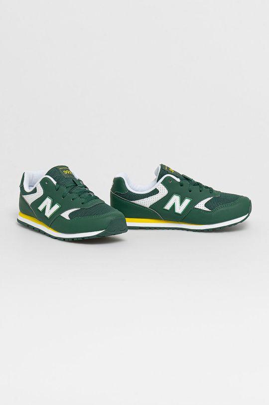 New Balance - Detské topánky YC393BGR zelená