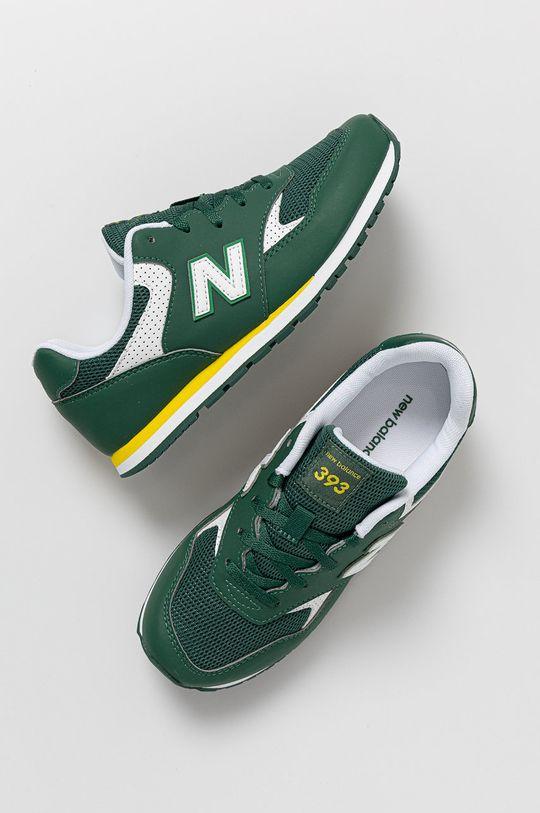 zelená New Balance - Detské topánky YC393BGR