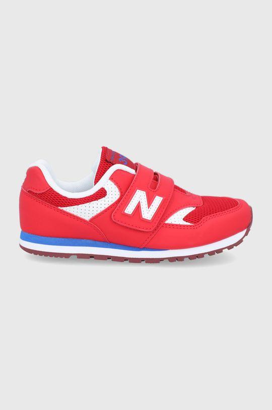 červená New Balance - Detské topánky YV393BBP Chlapčenský