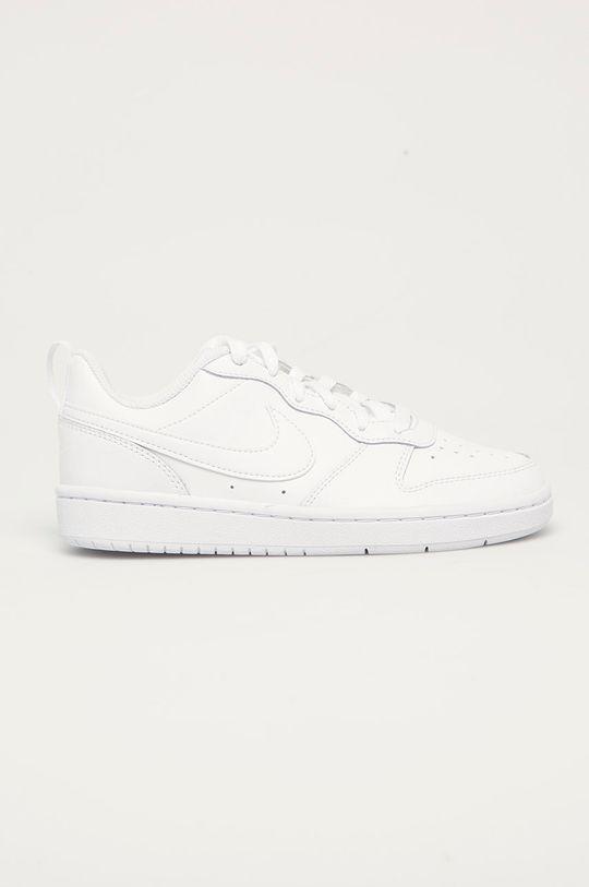 bílá Nike Kids - Dětské kožené boty Court Borough Low Chlapecký